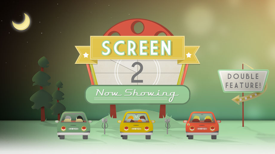 Highway 21 Drive In Theater Screen 2  - Beaufort Web Design - The Lills Design
